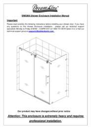 Enigma Series Shower Enclosure Manual