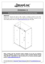 Enigma-X Series Shower Enclosure Manual