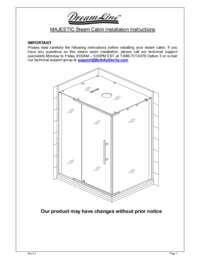 Majestic Series Shower Enclosure Manual