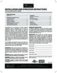 Installation and Operations Instructions