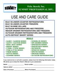 Use and Care Guide