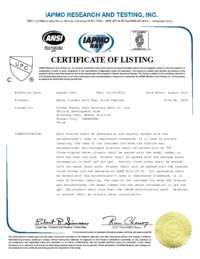 UPC Certificate