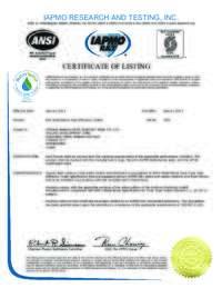 Watersense Certificate