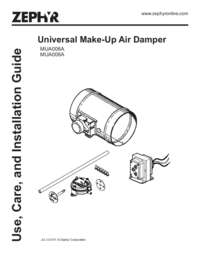 Make-Up Air Damper Manual