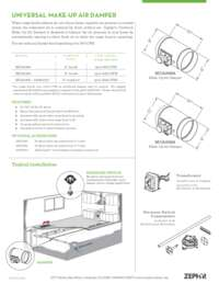 Make-Up Air Damper Specifications