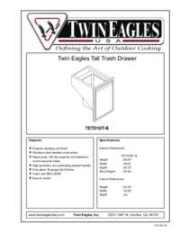 Tall Trash Drawer Specifications Sheet