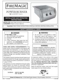 Diamond Power Burner Manual