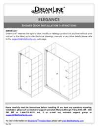 DreamLine Elegance Shower Enclosure Installation Guide