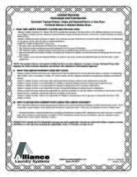 SSG919*F Warranty Bond English and Quebec French