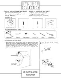 Vanity Installation Guide