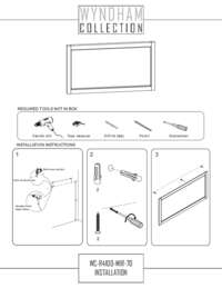 "70"" Mirror Installation Guide"