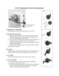 LLF2 Combination Cam Lock Instructions