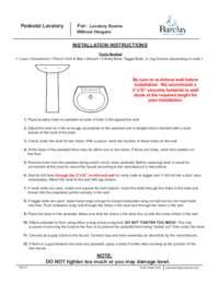 Pedestal Installation Instructions