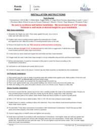 Rondo Wall Hung Installation Instructions