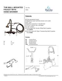 4022 Telephone Shower Set