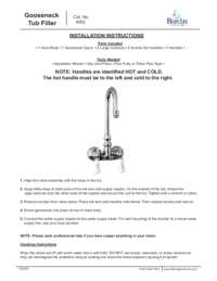 4052 Installation Instructions
