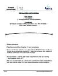 Curved Shower Rod Installation Instructions