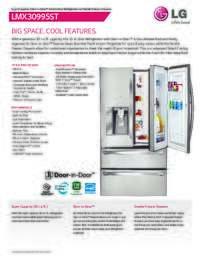 LG LMX30995 Refrigerator Spec Sheet