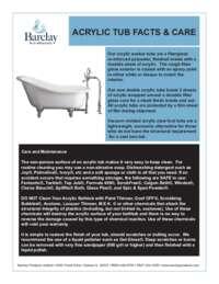 Acrylic Tub Care