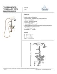 7393 Thermo Wall Mount Faucet Specifications Sheet
