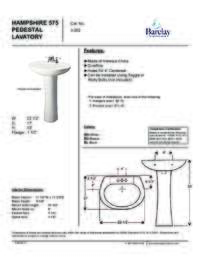 Spec Sheet for 575 Hampshire Lavatory