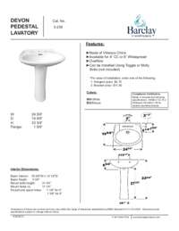 Spec Sheet for Devon Pedestal