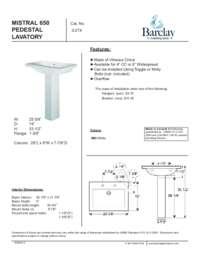Spec Sheet for Mistral 650 Lavatory