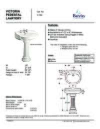 Spec Sheet for Victoria Pedestal Lavatory