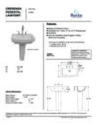 Spec Sheet for Credenza Pedestal Lavatory