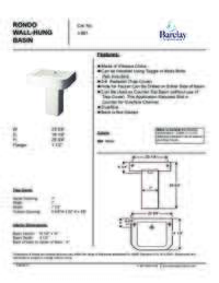 Spec Sheet for Rondo Wall Hung Basin