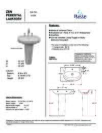 Spec Sheet for Zen Pedestal Lavatory