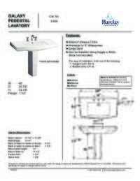 Spec Sheet for Galaxy Pedestal Lavatory