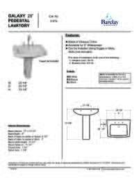 "Spec Sheet for Galaxy 28"" Pedestal Lavatory"