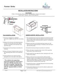 FSCDB350 Installation Instructions