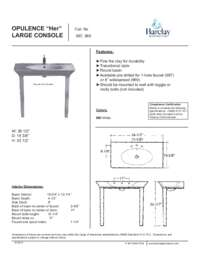 Spec Sheet for Opulence Large Console