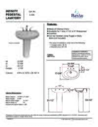 Spec Sheet for Infinity Pedestal Lavatory