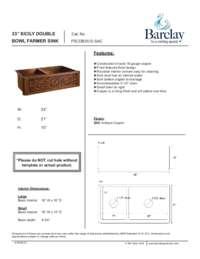 FSCDB3512 Specifications Sheet