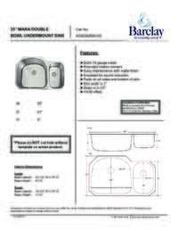 KSSDB2590-SS Specifications Sheet