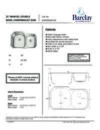 KSSDB2592-SS Specification Sheet