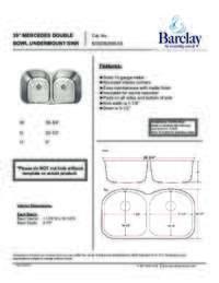 KSSDB2596-SS Specifications Sheet