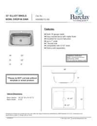 KSSSB2112 Specifications Sheet