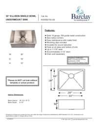 KSSSB2150 Specifications Sheet