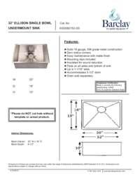 KSSSB2152 Specifications Sheet