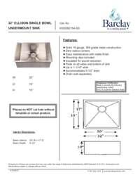 KSSSB2154 Specifications Sheet