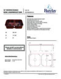 KSCDB3500 Specifications Sheet