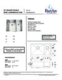 KSSDB2526-SS Specifications Sheet