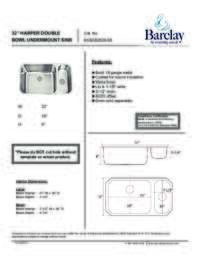 KSSDB2528 Specifications Sheet