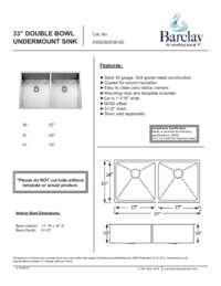 KSSDB2536-SS Specifications Sheet