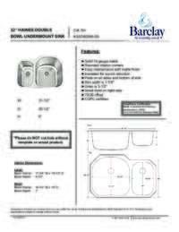 KSSDB2546-SS Specifications Sheet