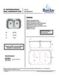 KSSDB2556-SS Specifications Sheet